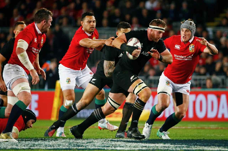 Ioane brace gives New Zealand win against Lions in first test